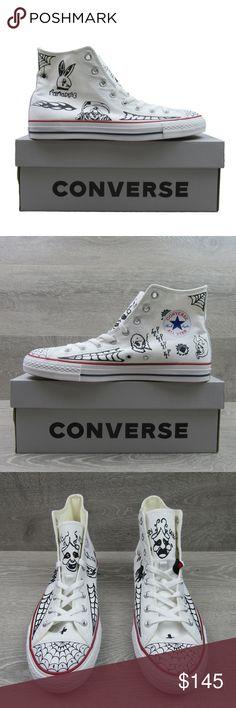 Converse Chuck Taylor All Star Pro Sean Pablo White HI Size 10 Mens 163040C RARE