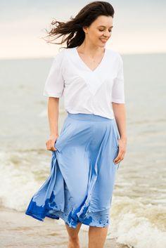 FRANCUZECZKA white Skirts, How To Make, Pants, Fashion, Moda, Trousers, Women Pants, Skirt Outfits, Skirt