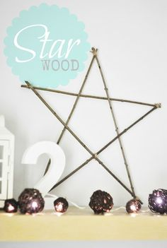 Wood STAR xmas decoration http://patitolubi.blogspot.com/
