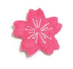 Felt Sakura Pin or Magnet