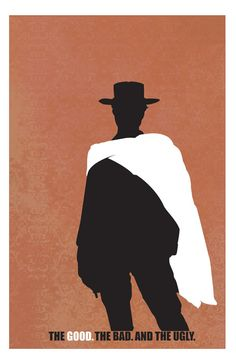 The Good, the Bad and the Ugly (1966) ~ Minimal Movie Poster by Alexander Dickerman