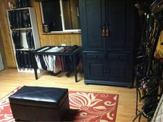 Extreme Makeover: Tackroom Addition-Love the saddle pad stand
