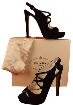 Prada Suede Peep Toe Slingback Platform High Heel 40 $830 Black Pumps. Get the must-have pumps of this season! These Prada Suede Peep Toe Slingback Platform High Heel 40 $830 Black Pumps are a top 10 member favorite on Tradesy. Save on yours before they're sold out!