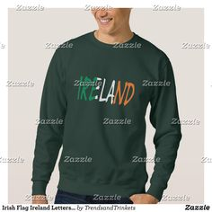 Irish Flag Ireland Letters Mens Basic Sweatshirt - Outdoor Activity Long-Sleeve Sweatshirts By Talented Fashion & Graphic Designers - #sweatshirts #hoodies #mensfashion #apparel #shopping #bargain #sale #outfit #stylish #cool #graphicdesign #trendy #fashion #design #fashiondesign #designer #fashiondesigner #style