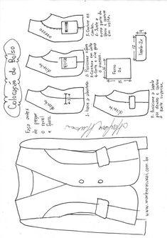 Blazer sem gola recorte princesa - Hunt Tutorial and Ideas Coat Patterns, Dress Sewing Patterns, Sewing Patterns Free, Clothing Patterns, Sewing Lessons, Sewing Hacks, Sewing Tutorials, Sewing Projects, Sewing Tips