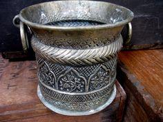 Brass Plant Pot - Brass Planter - Antique Brass Planter - Brass Jardiniere - Gothic Decor - Gothic Planter - Large Brass Planter - Metallic by MissieMooVintageRoom on Etsy