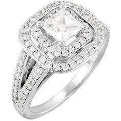 Get it at Oak Ridge Jewelers. Man Made Diamonds, Round Diamonds, Princess Cut Engagement Rings, Ring Engagement, Bohemian Bride, Wedding Wishes, Anniversary Rings, Diamond Jewelry, White Gold