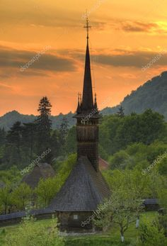 Wooden church from Maramures, Romania Royalty Free Stock Photos , Places To Travel, Places To See, Chateau Medieval, Vernacular Architecture, Cathedral Church, Bucharest, Place Of Worship, Heaven On Earth, Prince