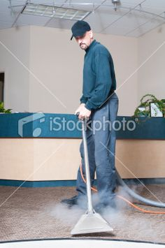 Professional Carpet Cleaner Royalty Free Stock Photo