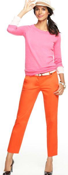 orange pants | Stylish delish | Pinterest | Orange pants and Color ...