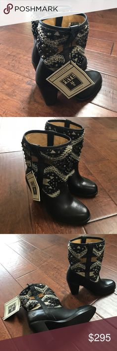 Frye Jenny Navajo Short Boot Brand new with original box. Never worn. Size 8. Frye Shoes Heeled Boots