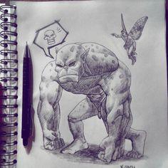 Sobre esse desenho confesso que não sabia o que fazer, e a medida que ele ia tomando forma a dúvida só aumentava, deixei o desenho fluir e deu nisso. #drawing #desenho #dibujo #study #sketchbook #pencil #lapis #worldofpencils #worldofartists #fantasy...