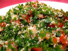Body Ecology Vegan Gluten Free Quinoa Tabouli. You can enjoy this minus the tomatoes on the BED. This is SO easy and SO good! A staple in my house!