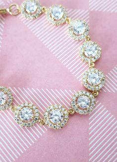 Heather - Sparkling Cubic Zirconia Bracelet, gifts for her, sparkly bracelet, silver Bridesmaid bracelet, wedding jewelry, crystal, www.glitzandlove.com