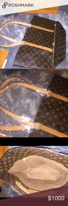 Authentic Sac Shopping shoulder tote. Sac Shopping shoulder tote from Vintage. 💯% Authentic. Recently got straps changed at Lv Boutique. Straps still in plastic cover. Comes with repair receipt. Louis Vuitton Bags