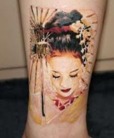 Geisha Tattoos And Meanings-Geisha Tattoo Designs And Ideas