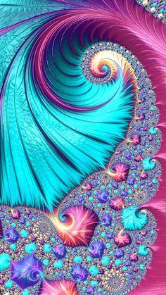 Clock Wallpaper, Flowery Wallpaper, Pop Art Wallpaper, Cellphone Wallpaper, Colorful Wallpaper, Wallpaper Backgrounds, Wallpapers, Art Fractal, Fractal Design