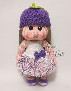 Ravelry: Mia Bambola con il cappello uva ed il modello del vestito da Havva Ünlü