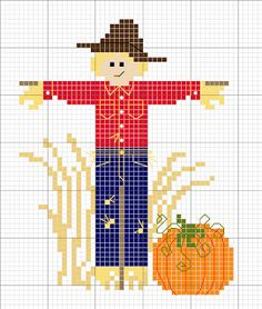 Cross Stitch Happy: Scarecrow Stand-Up