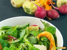 Insalata di valeriana e fiori di zucca  #ricette #food #recipes
