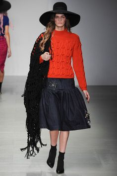 Knitted red sweater.  Sister by Sibling Fall 2014 Ready-to-Wear Collection Slideshow on Style.com