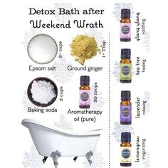 Detox Bath- going to do this right now and kill my cold,