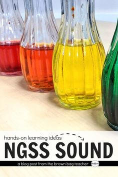 Check out some of my favorite ways to use Next Generation Science Standards to keep sound hands-on and writing based! Sound Science, Primary Science, Stem Science, Elementary Science, Science Classroom, Science Fair, Science Lessons, Teaching Science, Science Education