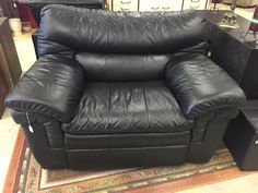 Black large Lazy Boy recliner- $225  #recliner #forsale #furniture #mk #consignment #black #livingroom #design #decor #home #house #apartment