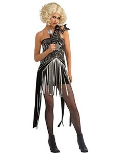 Lady Gaga Star Dress Adult Womens Costume