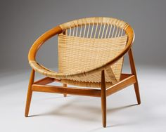 """Armchair """"the Ring Chair"""" number 23 by Illum Wikkelsö for Niels Eilersen, — Modernity"""