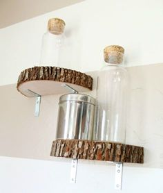 We LOVE this do it yourself wood shelving idea from Girl Loves Glam Decor!