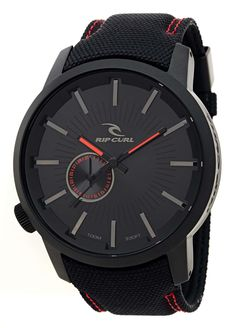 Black watch with Date Always On Time, Rip Curl, Casio Watch, Fashion Watches, Detroit, Fashion Dresses, Belt, Leather, Accessories