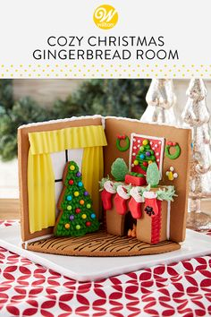 From gingerbread dog houses to trains, we've compiled a variety of fun and unique gingerbread house ideas! Find gingerbread house ideas and more at Wilton. Gingerbread House Designs, Gingerbread House Parties, Christmas Gingerbread House, Gingerbread Decorations, Noel Christmas, Italian Christmas, Gingerbread Cookies, Xmas, Christmas Tree Cookies