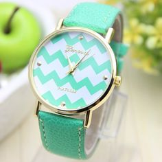 Chevron Watch... looks EXACTLY like the ones at Charming charlies! I just ordered 4 items (2 shirts, a watch and a necklace) for under 35$ !!