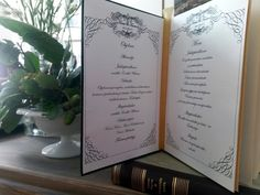 Hääohjelma ja Menu - Wedding programme and menu