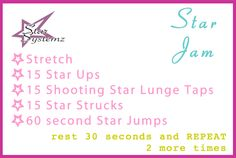 Full Body Workout: Sweating like crazy burned a ton of calories!  http://www.starsystemz.com