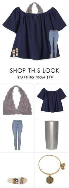 """""""it's been awhile..."""" by texasgirlfashion ❤ liked on Polyvore featuring Rebecca Taylor, Topshop, Jack Rogers, Alex and Ani and Kendra Scott"""