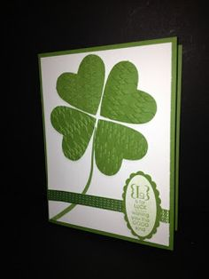 Here is a little St. Patrick's Day Card. I love using punches for multiple functions!        Supplies:   Occasions Alphabet Stamp Set   Full...