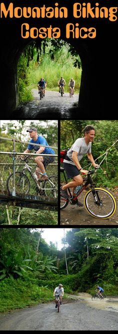 Mountain biking in Costa Rica can take you over suspension bridges, into rivers and through some of the most beautiful rainforest in the world http://costa-rica-guide.com/activities/mountain-biking/