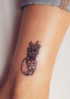 L'ananas découpé