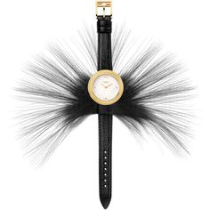Fendi Timepieces Fendi My Way Watch with Removable Fur Glamy ($1,010) ❤ liked on Polyvore featuring jewelry, watches, fendi, black, bezel watches, engraving watches, bezel jewelry, engraved jewelry and polish jewelry
