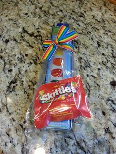 Rainbow party favors.