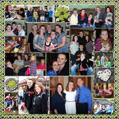 Digital Scrapbook Page, Graduation Book Family Collage, 2 page layout_right side