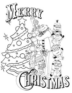 Minion Christmas Holiday Coloring Christmas math coloring