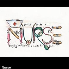 Nurse- couldn't be more excited to be a part of this profession!! Ive discovered my passion and excitement in life!! :) Wish me luck!