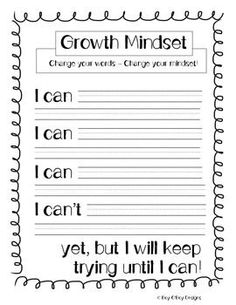 "This product is great for teaching about growth mindset. I used in conjuction with the book ""The Dot"" by Peter H. Great for beginning of the year activity.keep in journal and look again at the end of the year. Social Emotional Learning, Social Skills, The Power Of Yet, Growth Mindset Activities, Growth Mindset Lessons, Growth Mindset Classroom, Bon Point, Visible Learning, Responsive Classroom"
