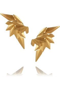 Maria Black | Gold-plated wing earrings