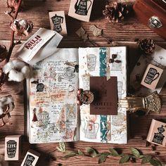 "704 mentions J'aime, 11 commentaires - Q ✄ (@queenie_abelle) sur Instagram : ""Coffee? ☕️  . . . #手帳 #手帳ゆる友 #マステ #マスキングテープ #Hobonichi #snailmail #QueenieCraftJournal #flatlay…"""