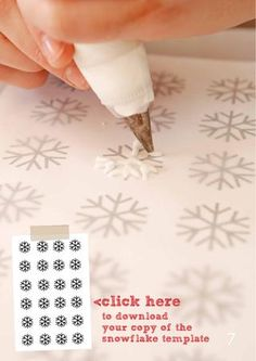 snowflake chocolate template to add some extra flair to your goodies