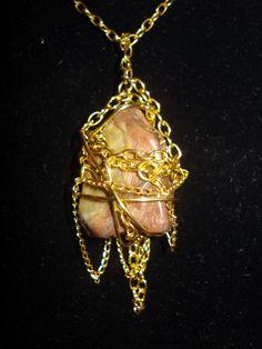 Chain Wrapped Rock Necklace DIY | Tasha Delrae
